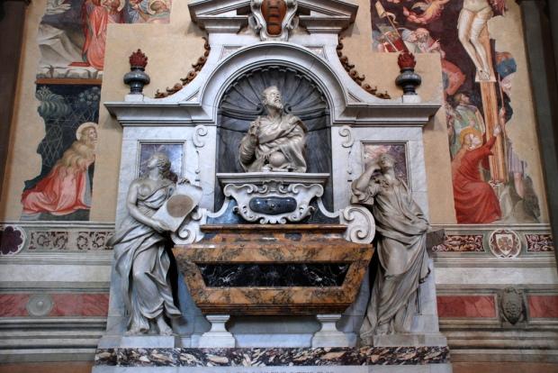 The tomb of Galileo Galilei in the Santa Croce