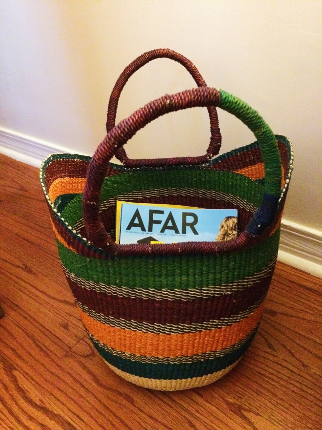 Home Decor Idea: Bolga Baskets- Bolga Basket- www.afriendafar.com #ghana #handicrafts