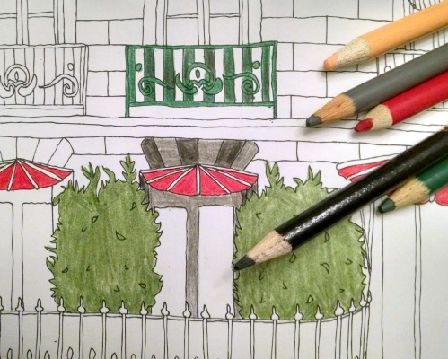 Paris Coloring Book for Adults - www.AFriendAfar.com