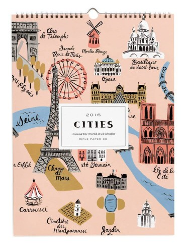 Travel Gift Guide: Cities calendar - Best Gifts for Travelers - www.AFriendAfar.com