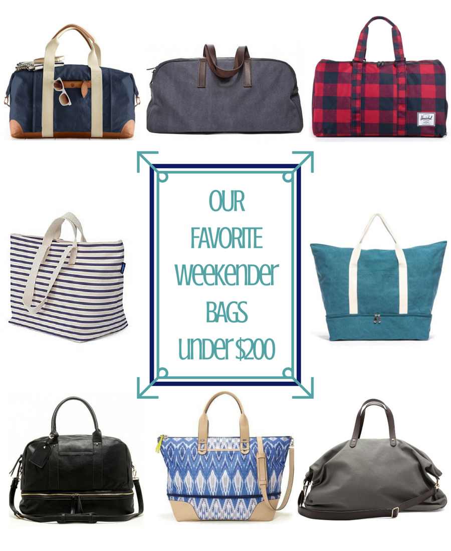 Best Weekender Bags Under $200 - A Friend Afar
