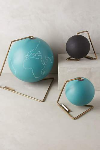 Travel Gift Guide: Chalkboard Globe - - Best Gifts for Travelers - www.AFriendAfar.com