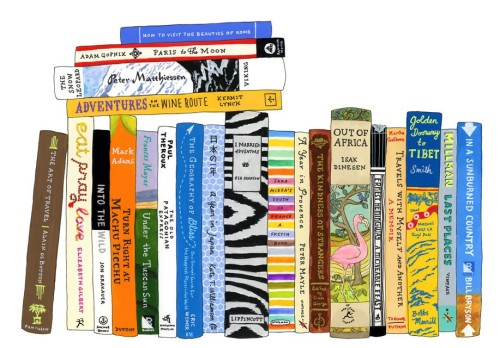 Travel Gift Guide: Ideal Bookshelf Travel Print - Best Gifts for Travelers - www.AFriendAfar.com