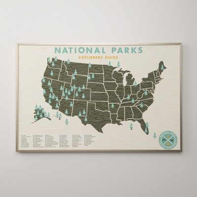 Travel Gift Guide: National Parks Print - Best Gifts for Travelers - www.AFriendAfar.com