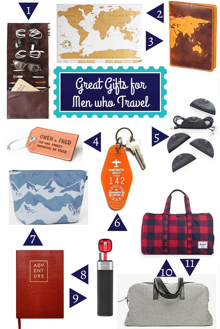 Gift Guide for Travelers:  Men who Travel - www.AFriendAfar.com